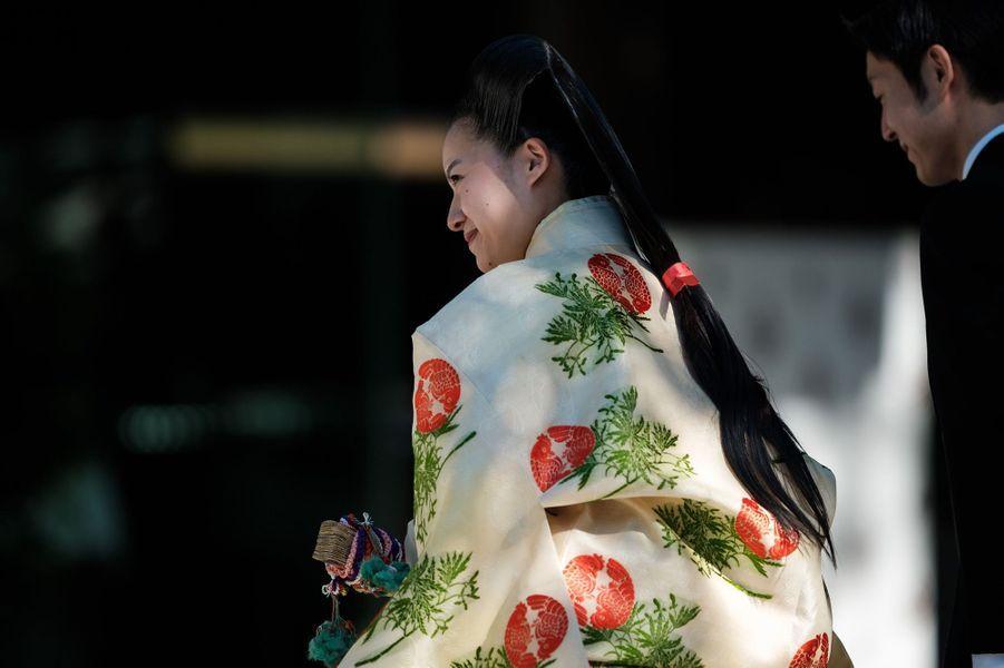 La princesse Ayako du Japon lors de son mariage à Tokyo, le 29 octobre 2018