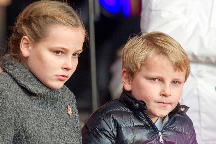 La princesse Ingrid Alexandra et le prince Sverre Magnus à Oslo le 10 décembre 2014