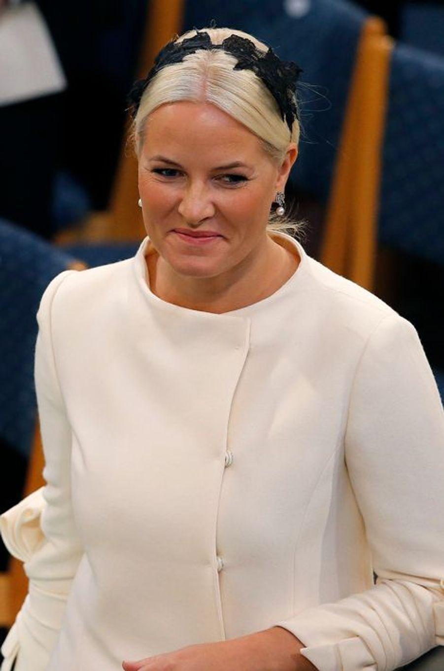 La princesse Mette-Marit à la remise du prix Nobel de la Paix à Oslo le 10 décembre 2014