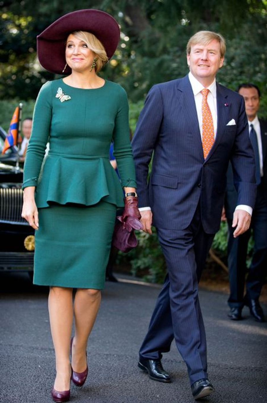 Le roi Willem-Alexander des Pays-Bas et la reine Maxima à Tokyo, le 30 octobre 2014