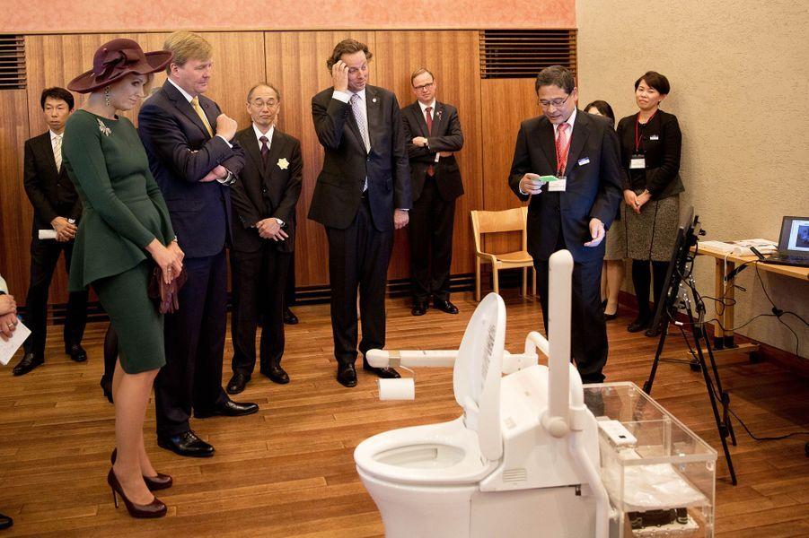 Le roi Willem-Alexander des Pays-Bas et la reine Maxima participent à une réunion «Vieillir à domicile», le 30 octobre 2014