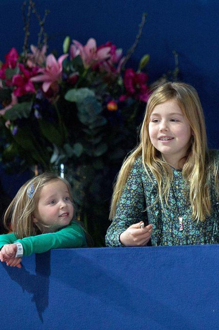 La princesse Alexia et Paola, au Jumping Amsterdam, le 1er février 2015