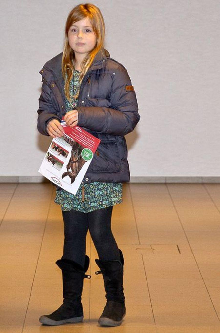 La princesses Alexia au Jumping Amsterdam, le 1er février 2015