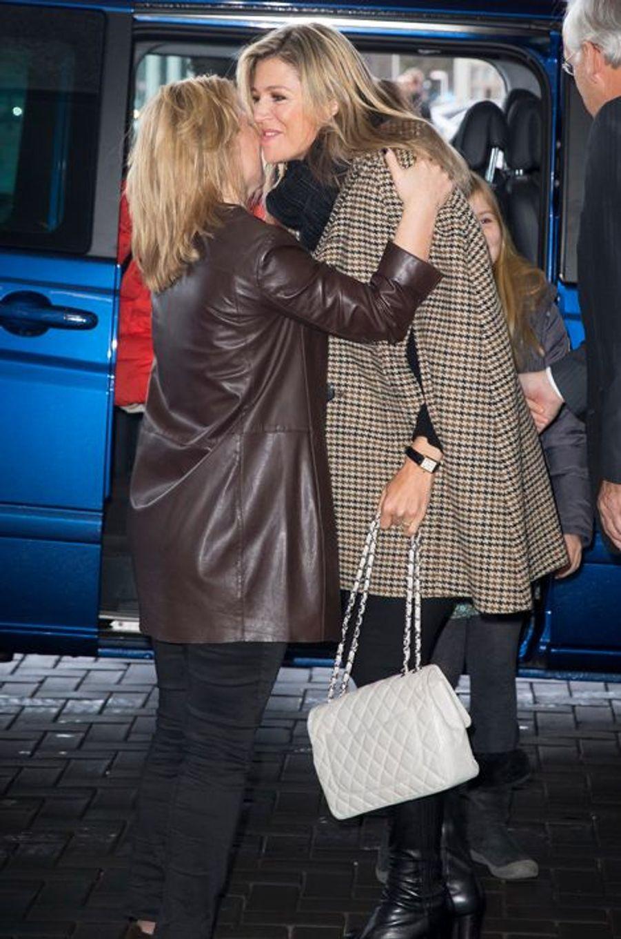 La reine Maxima et princesse Margarita de Bourbon Parme au Jumping Amsterdam, le 1er février 2015