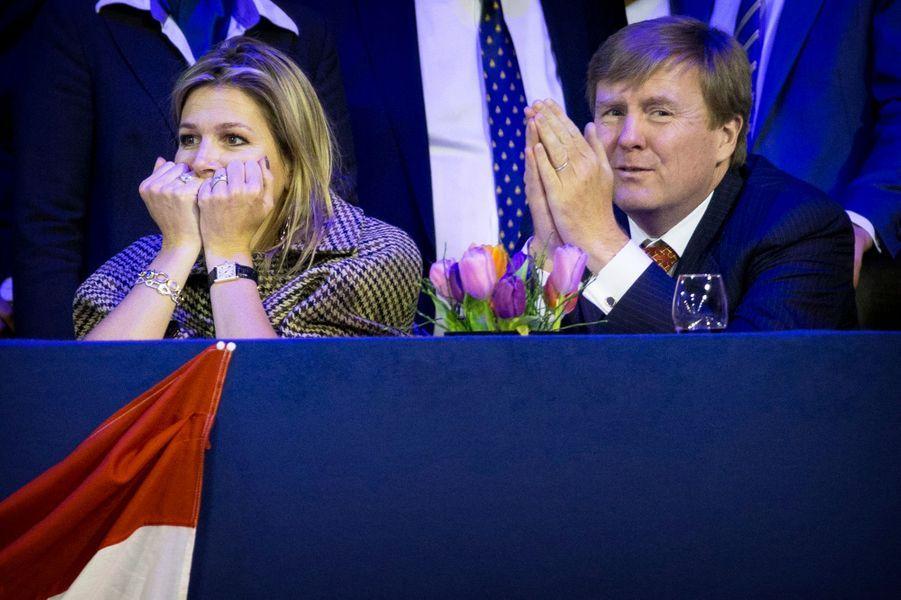 Le roi Willem-Alexander et la reine Maxima au Jumping Amsterdam, le 1er février 2015