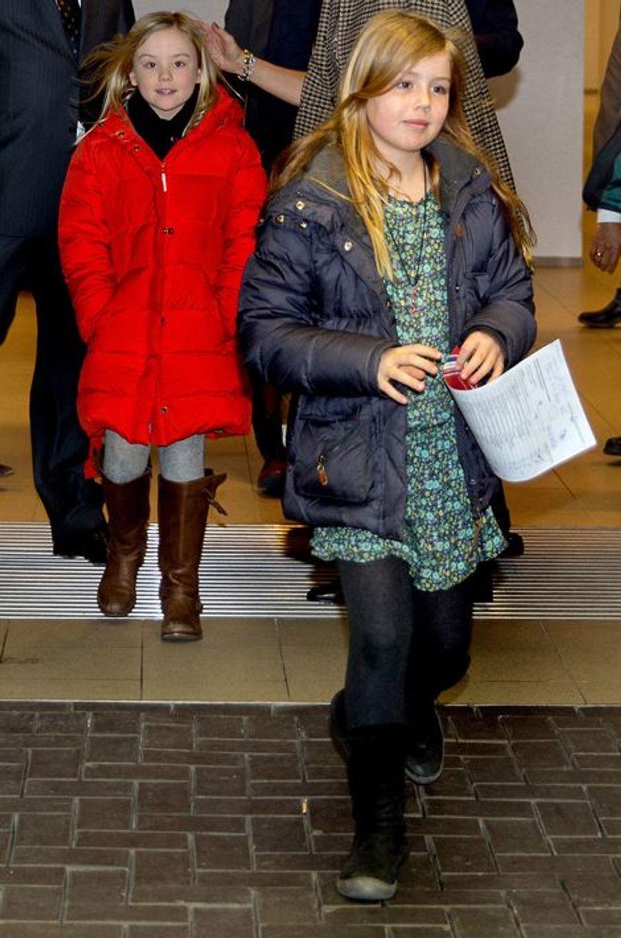 Les princesses Alexia et Ariane au Jumping Amsterdam, le 1er février 2015