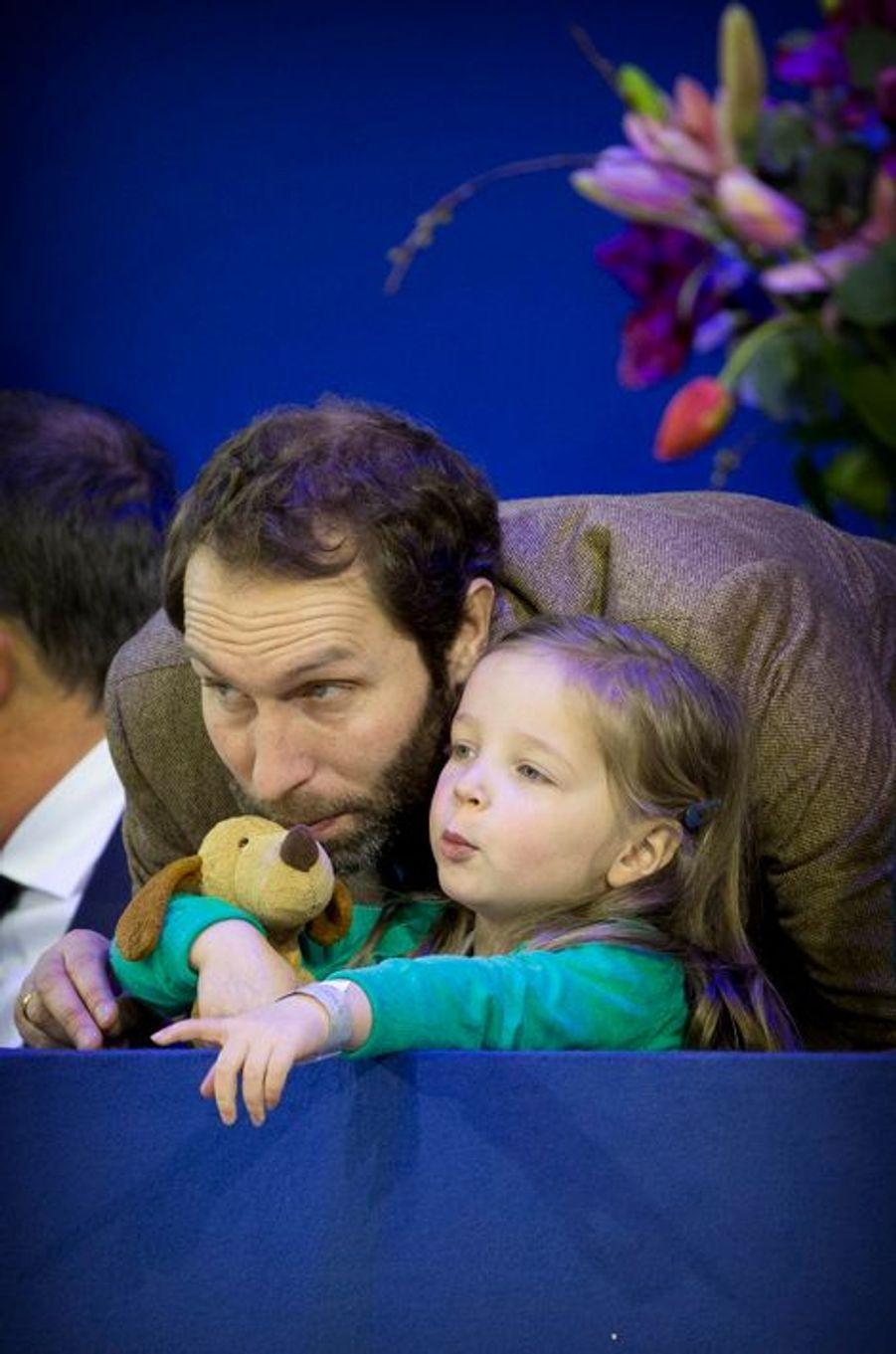 Paola et son père Tjalling ten Cate au Jumping Amsterdam, le 1er février 2015