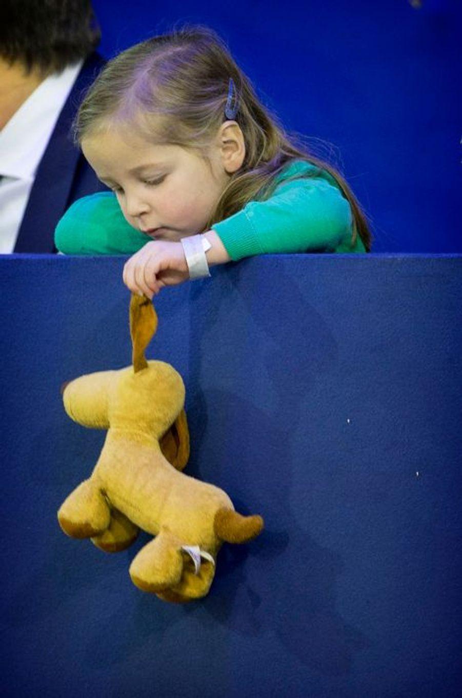 Paola, la fille de la princesse Margarita de Bourbon Parme au Jumping Amsterdam, le 1er février 2015
