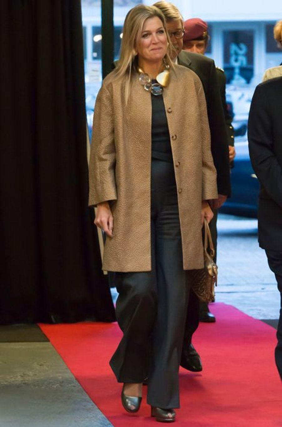 La reine Maxima des Pays-Bas à Utrecht, le 15 janvier 2015