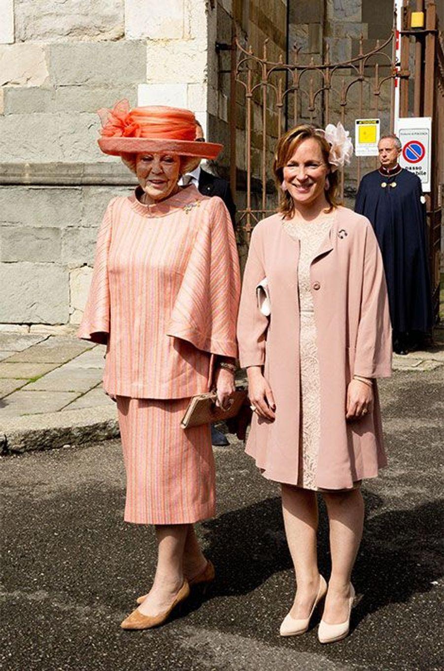 Beatrix et sa nièce la princesse Margarita de Bourbon-Parme