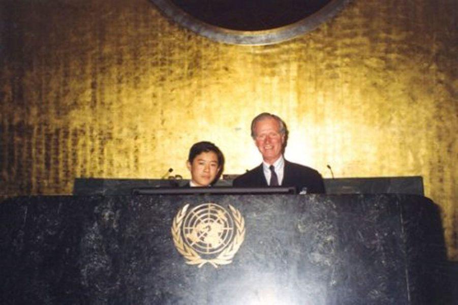 Première visite à l'ONU pour le jeune prince.