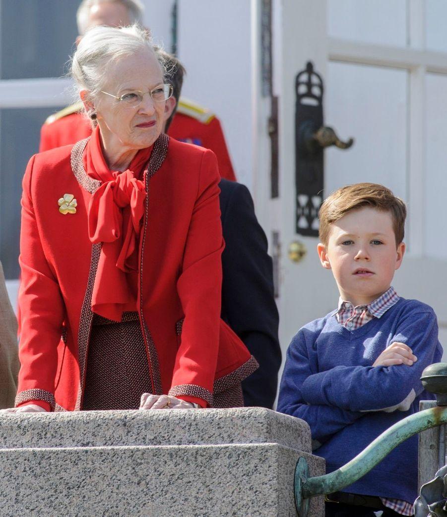 La reine Margrethe, le Prince Christian