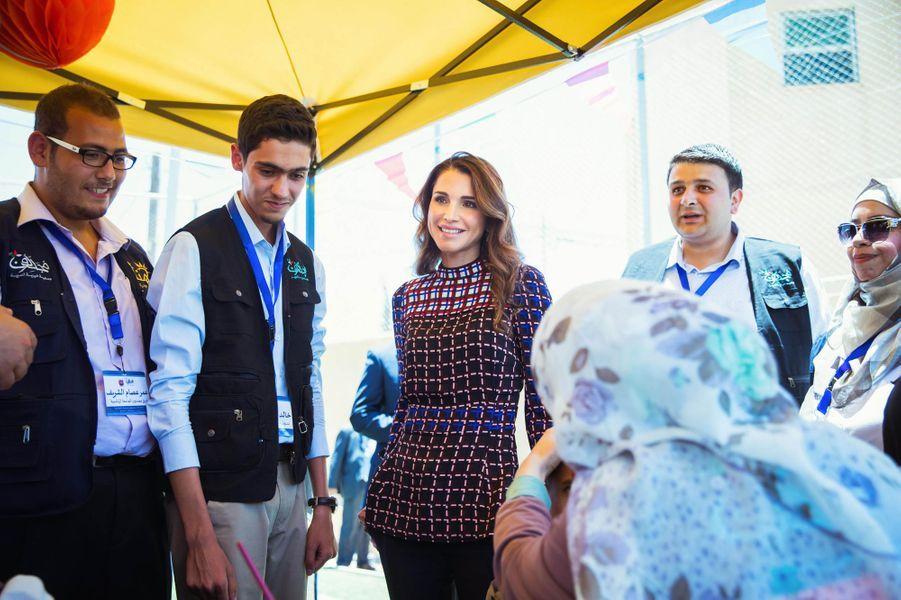 La reine Rania de Jordanie à Amman, le 12 juin 2016