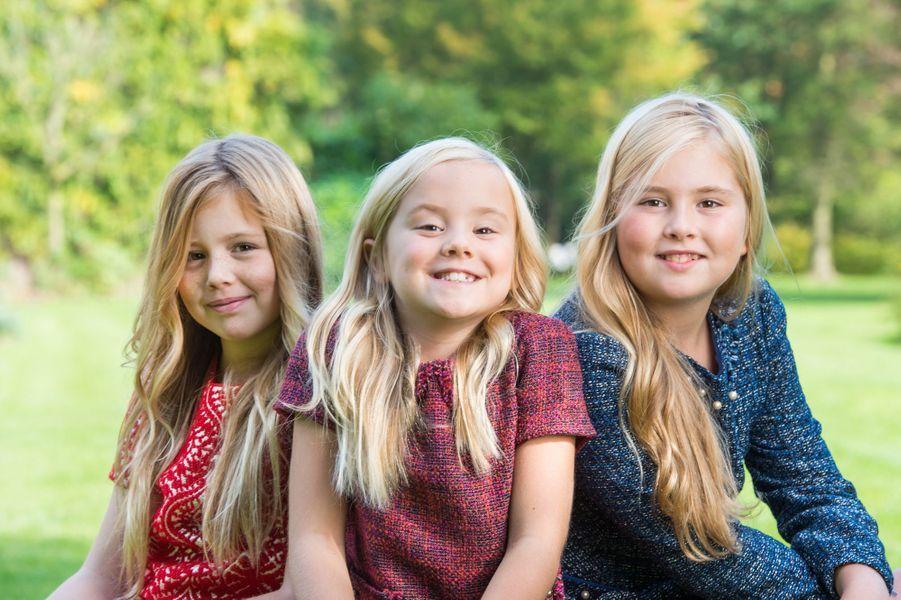 La princesse Catharina-Amalia et ses soeurs Alexia et Ariane, à l'automne 2014