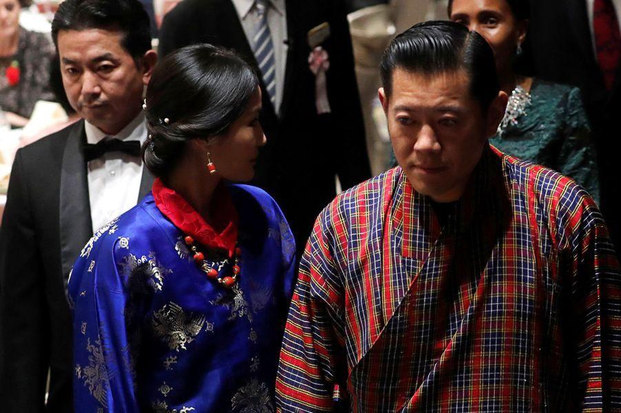 La reine Jetsun Pema et le roi Jigme Khesar Namgyel Wangchuck du Bhoutan, à Tokyo le 23 octobre 2019