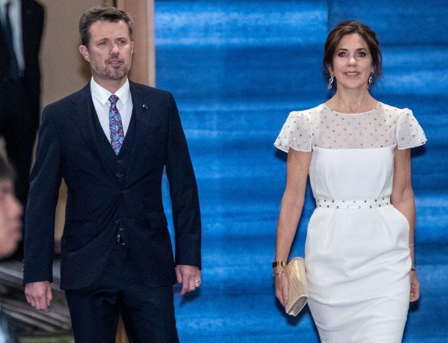La princesse Mary et le prince héritier Frederik de Danemark, à Tokyo le 23 octobre 2019