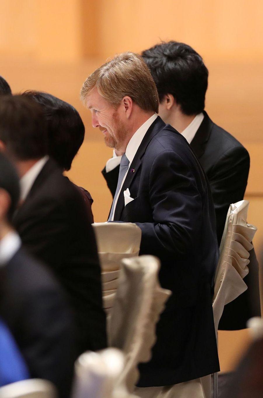 Le roi Willem-Alexander des Pays-Bas, à Tokyo le 23 octobre 2019