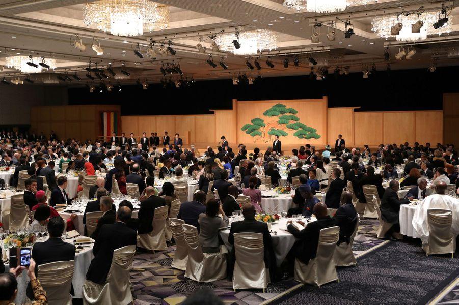 Banquet offert aux invités étrangers par Shinzo et Akie Abe à Tokyo, le 23 octobre 2019