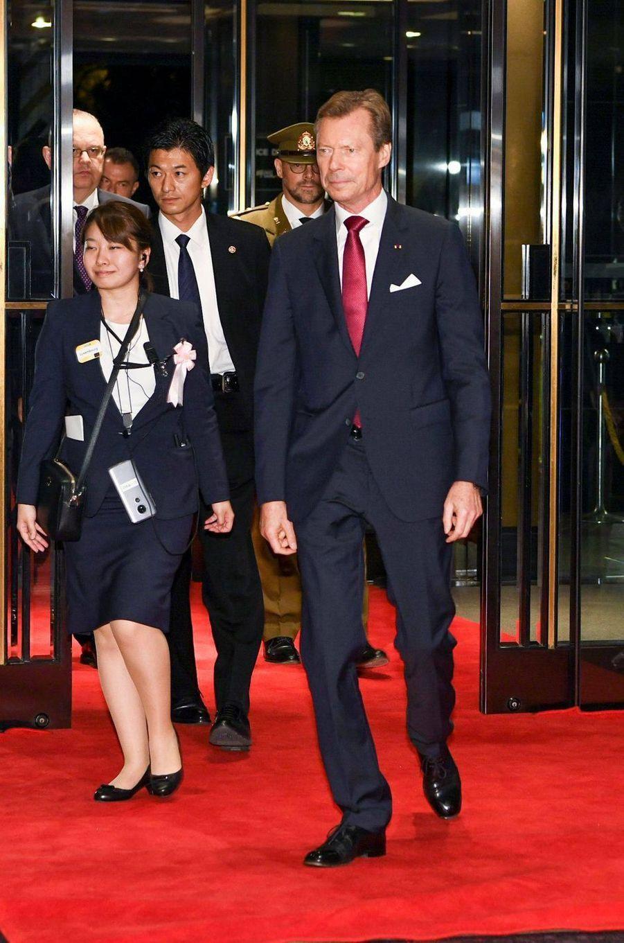 Le grand-duc Henri de Luxembourg, à Tokyo le 23 octobre 2019