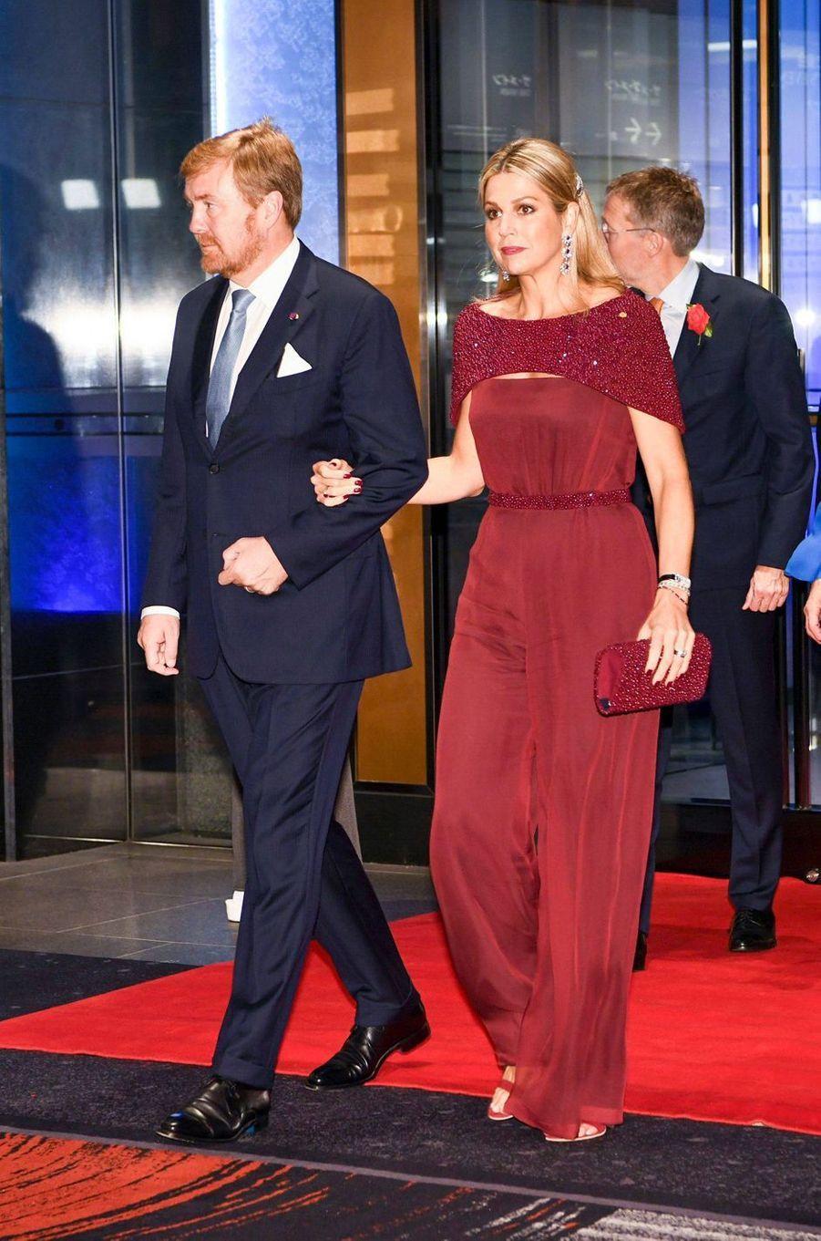 La reine Maxima et le roi Willem-Alexander des Pays-Bas, à Tokyo le 23 octobre 2019