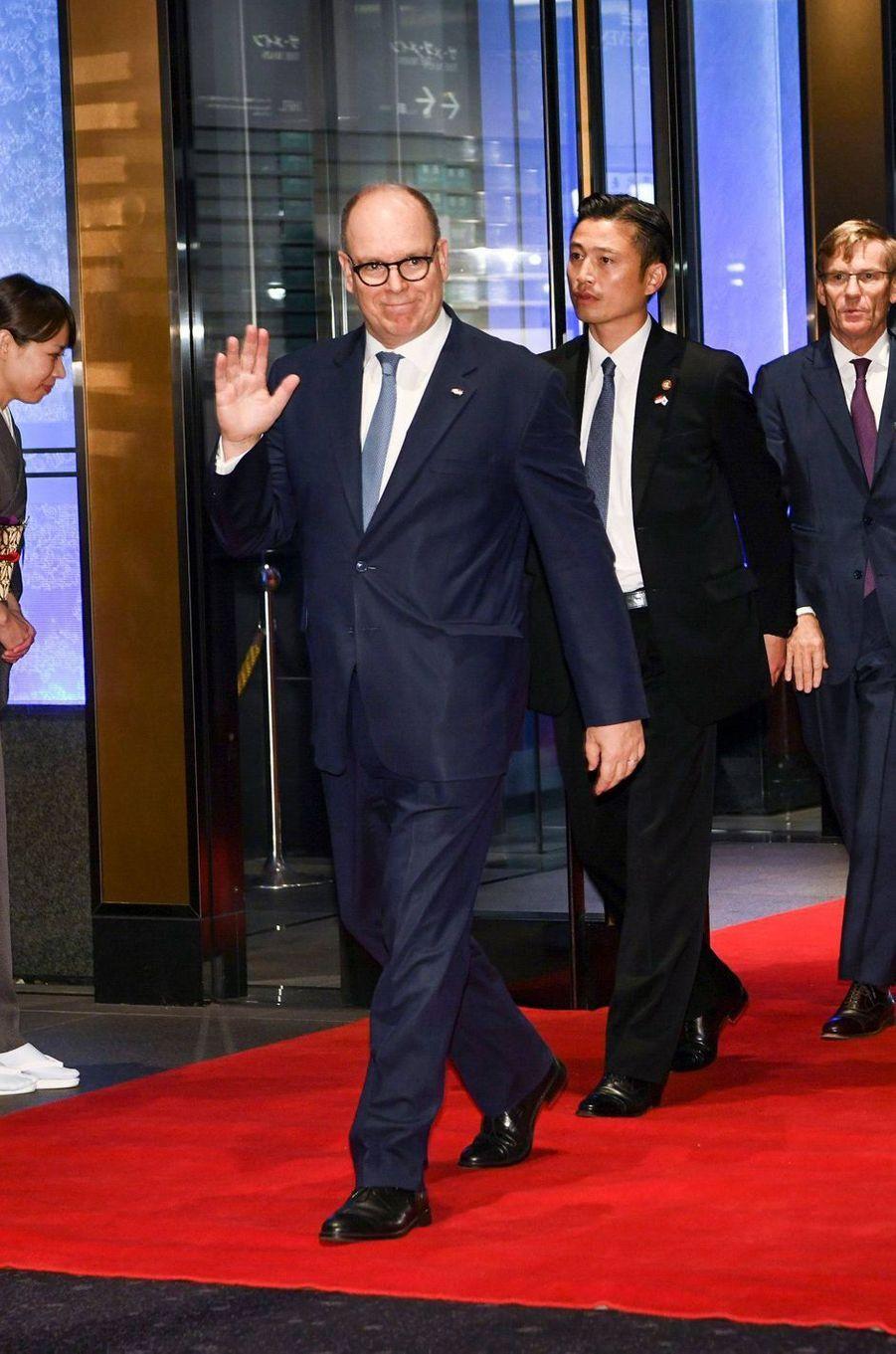 Le prince Albert II de Monaco, à Tokyo le 23 octobre 2019