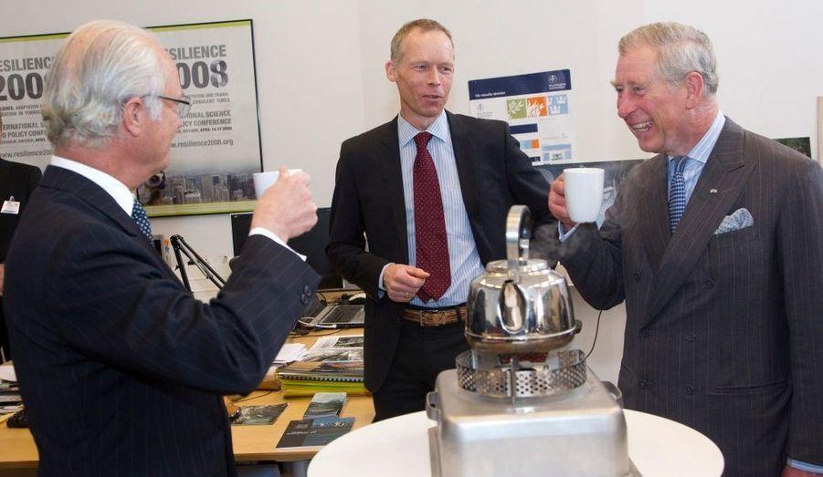Un thé pour Charles et Carl XVI Gustaf