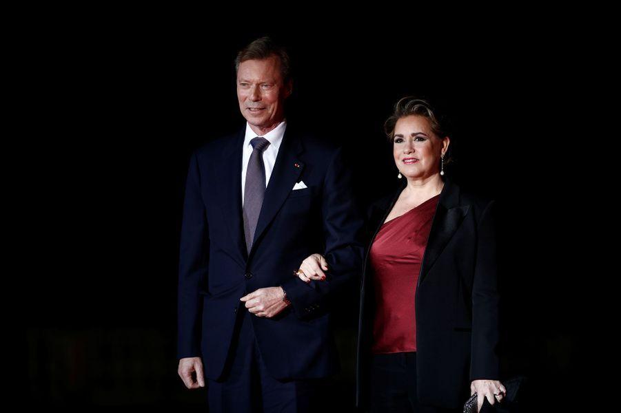 La grande-duchesse Maria Teresa et le grand-duc Henri de Luxembourg, le 10 novembre 2018 à Paris