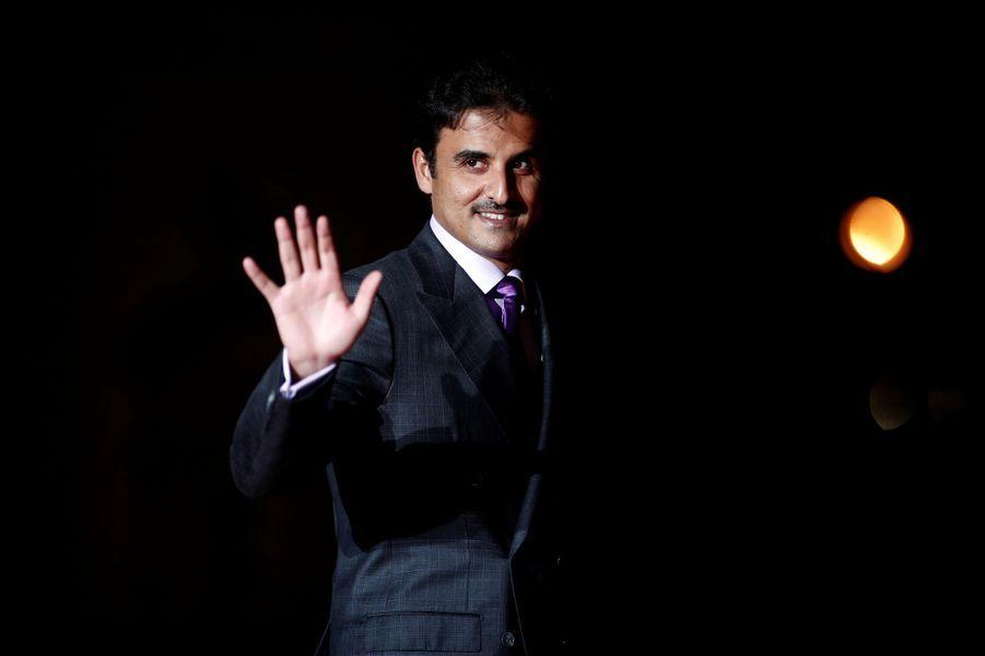 L'émir du Qatar Sheikh Tamim bin Hamad al-Thani à Paris, le 10 novembre 2018