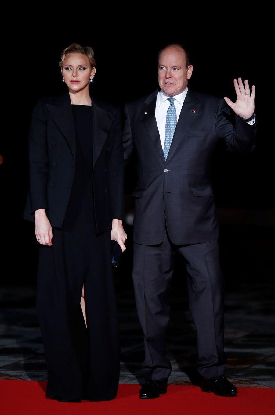 La princesse Charlène et le prince Albert II de Monaco, le 10 novembre 2018 à Paris