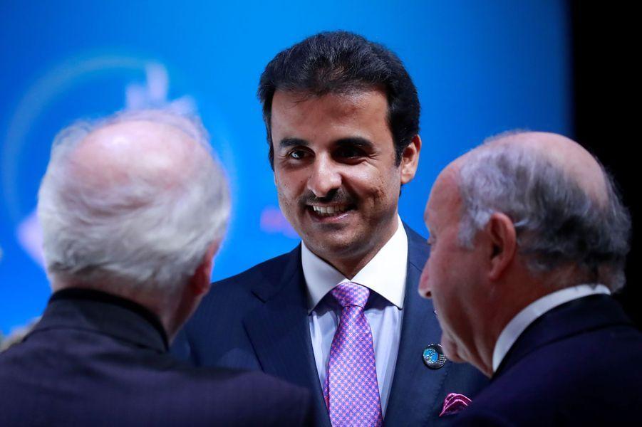 L'émir du Qatar au Forum sur la Paix à Paris, le 11 novembre 2018