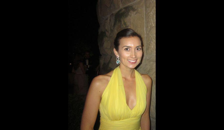 Claire au Mariage Princier, en 2012
