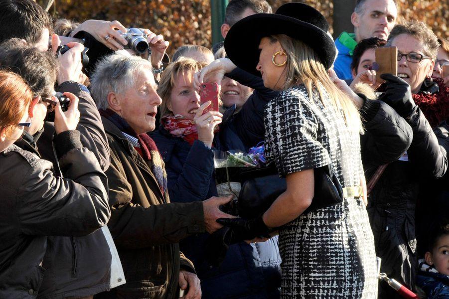 La reine Maxima des Pays-Bas inaugure la Community School Joure South à Joure, le 21 novembre 2014