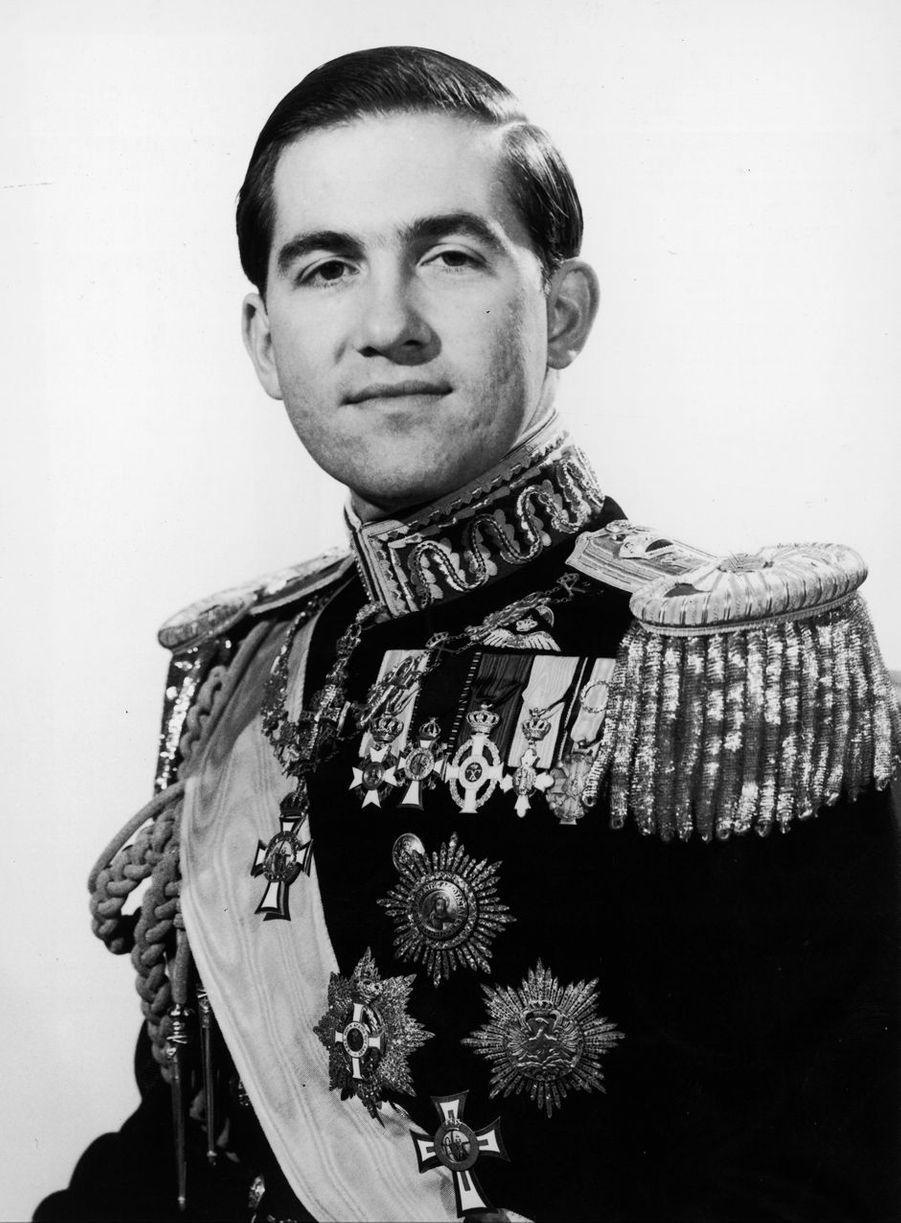 Le prince héritier (diadoque) de Grèce Constantin II, en 1960