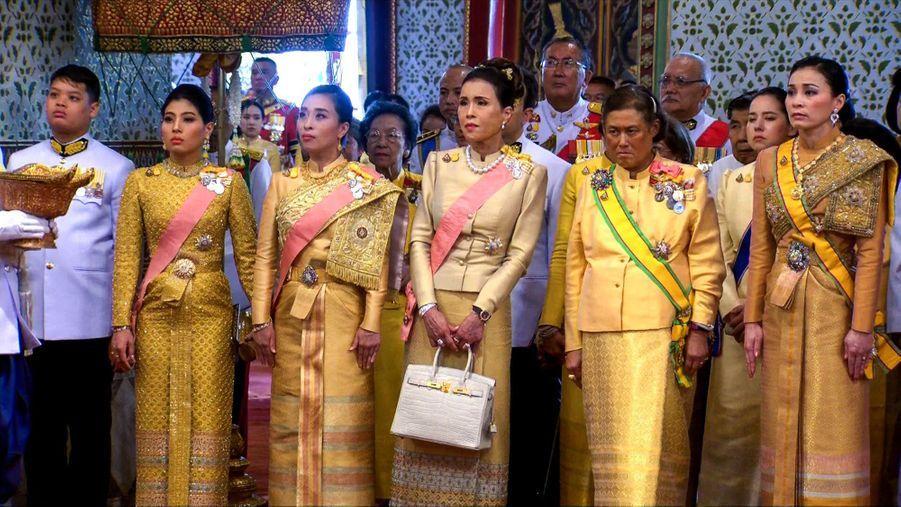La famille royale de Thaïlande à Bangkok, le 4 mai 2019