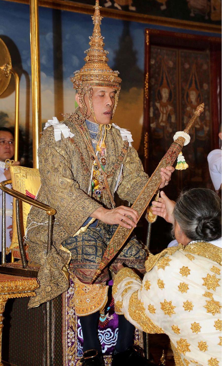 Le roi de Thaïlande Maha Vajiralongkorn (Rama X) à Bangkok, le 4 mai 2019 jour de son couronnement