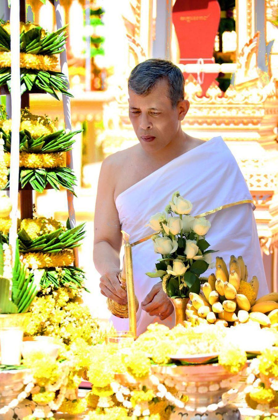 Maha Vajiralongkorn, le roi de Thaïlande Rama X à Bangkok, le 4 mai 2019, jour de son couronnement