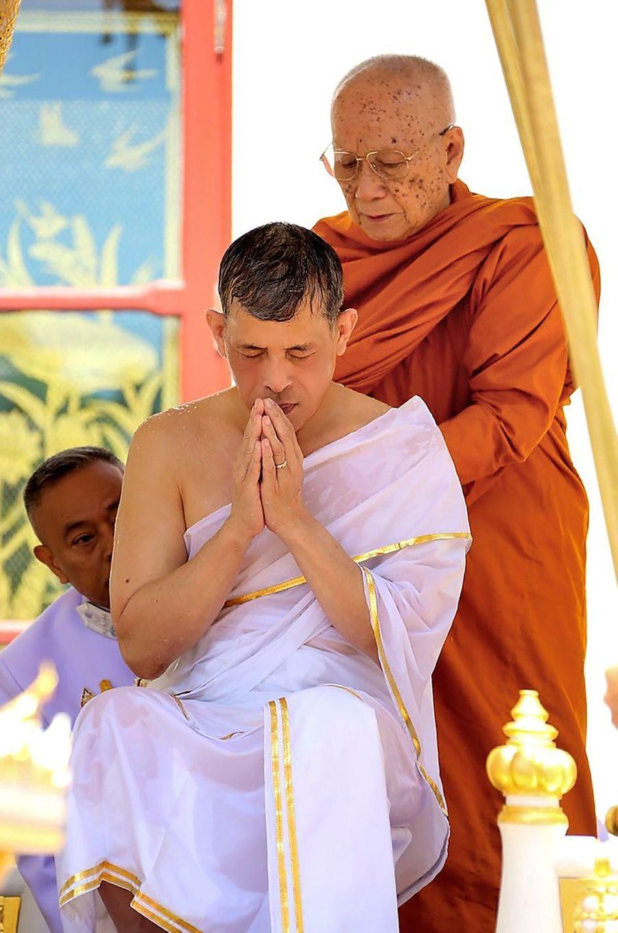 Le roi de Thaïlande Maha Vajiralongkorn (Rama X) à Bangkok le jour de son couronnement, le 4 mai 2019