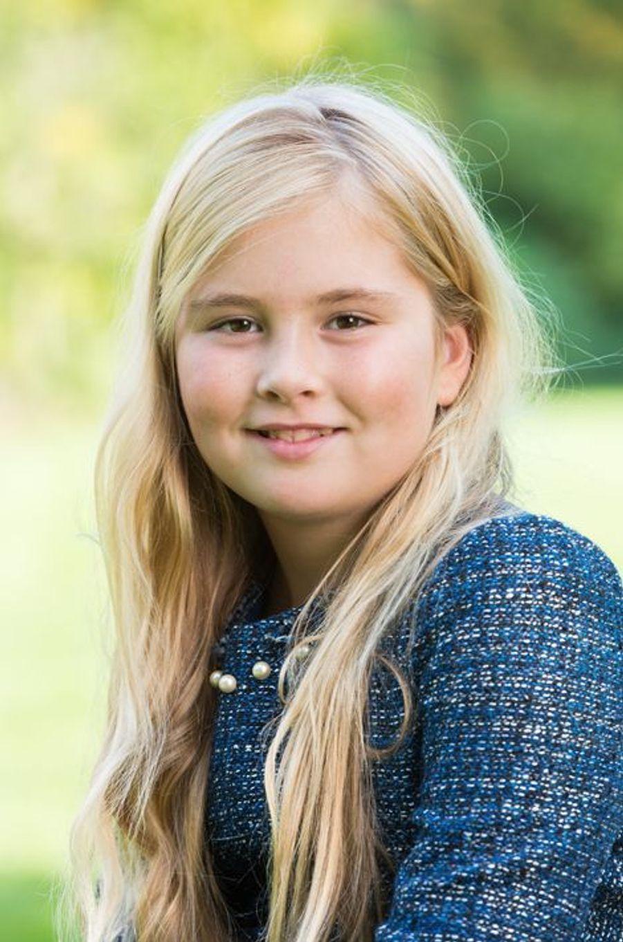 La princesse Catharina-Amalia des Pays-Bas à Wassenaar, à l'automne 2014