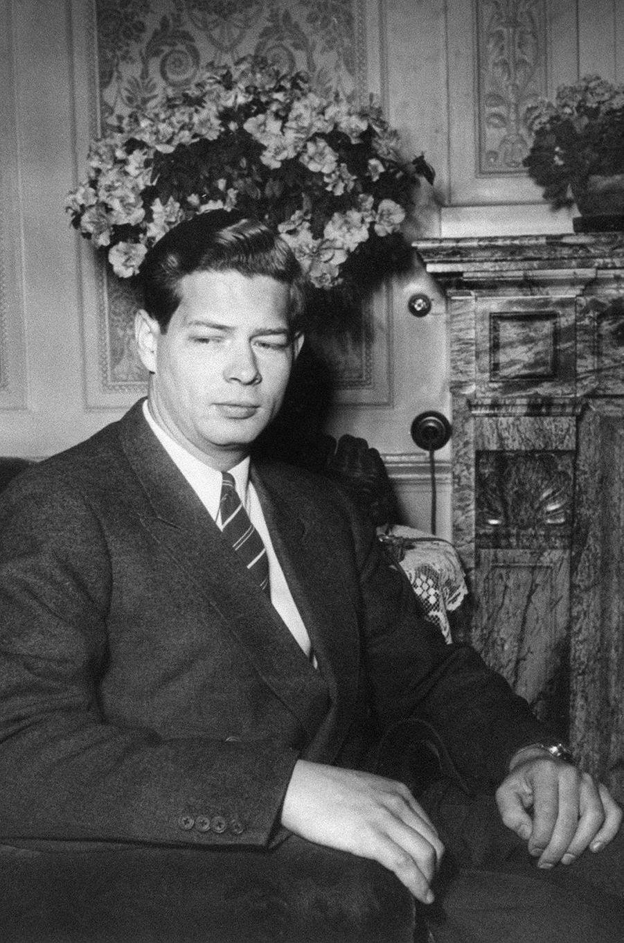 L'ex-roi Michel de Roumanie, le 8 janvier 1948 à Lausanne