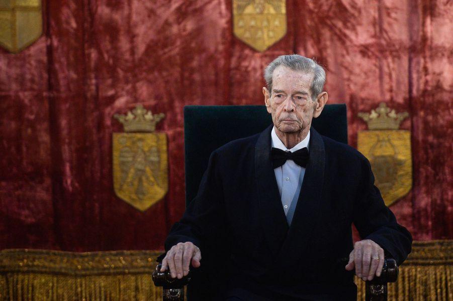 L'ex-roi Michel de Roumanie, le 20 novembre 2014 à Bucarest