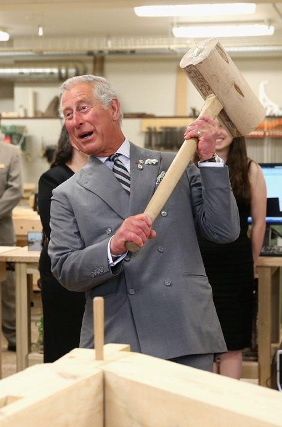 Autant faire les choses en grand pour le prince Charles, à Charlottetown au Canada, le 20 mai 2014