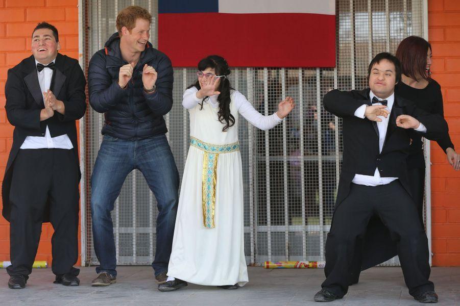 C'est quoi comme danse, Harry ?, à Santiago du Chili, le 29 juin 2014