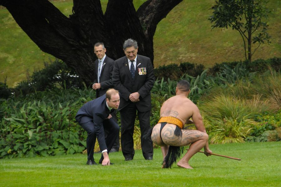 Pas si simple les traditions de Nouvelle-Zélande, n'est-ce pas William, à Wellington le 7 avril 2014