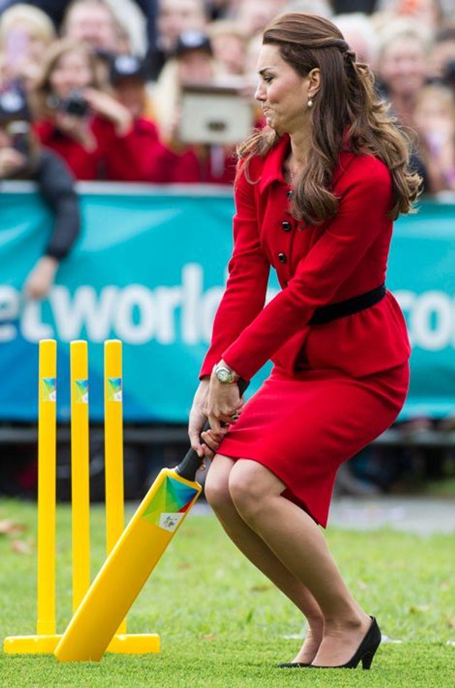 Tout est dans le geste, n'est-ce pas Kate !, Christchurch en Nouvelle-Zélande, le 14 avril 2014