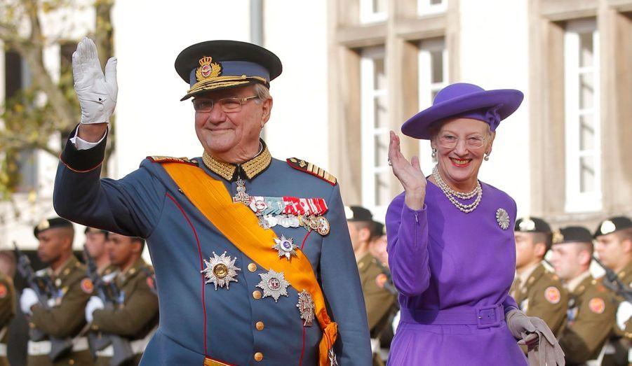 La reine Margrethe II du Danemark et le Prince Consort Henrik