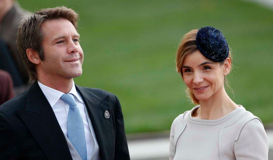 Le Prince Emanuele Filiberto de Savoie et son épouse, Clotilde Courau