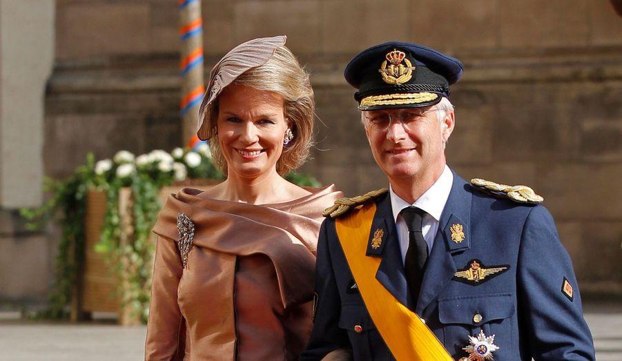 Le Prince Philippe et la Princesse Mathilde