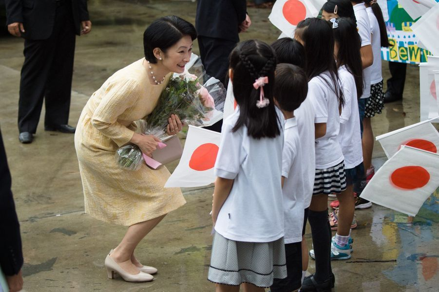 La princesse Kiko du Japon à Rio de Janeiro, le 8 novembre 2015