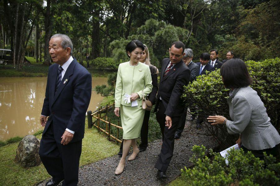 La princesse Kiko du Japon au Jardin botanique de Rio de Janeiro, le 7 novembre 2015
