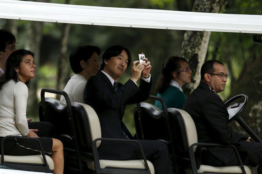 La princesse Kiko et le prince Akishino du Japon au Jardin botanique de Rio de Janeiro, le 7 novembre 2015